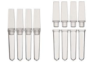 PCR reaction strips and caps