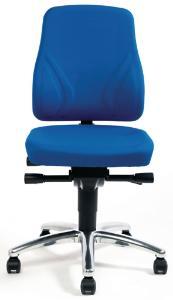 Chair, Smart, blue with castors